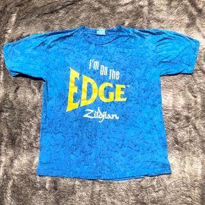 Vtg Zildjian cymbals I'm on the Edge blue tie dye